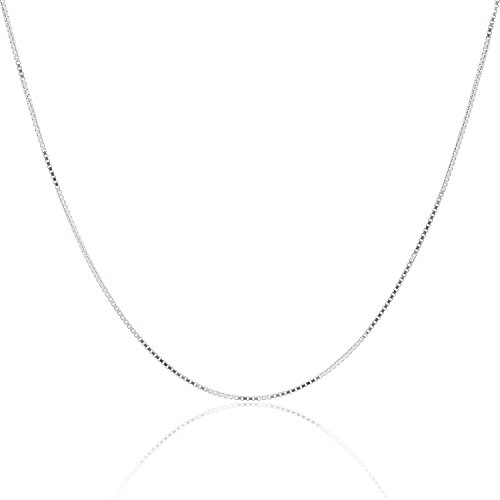 925 Sterling Silver 1.5 MM Box Chain Italian Crafted Necklace Sturdy Lightweight Strong - Lobster Claw Clasp 24 (Necklace 925 Silver Clasp)
