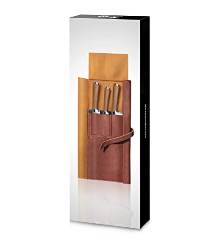 Cangshan H1 Series 59939 4 Piece Leather Roll Knife Set, Silver by Cangshan (Image #8)