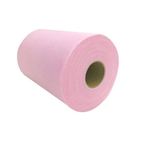 Windspeed Tulle Roll Spool , 6 Inch x 100 yards Tutu Tulle Wedding Gift Bow Carft Wedding Decor (Pink) (Pew Fabric Church)