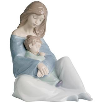 "Nao by Lladro Collectible Porcelain Figurine: THE GREATEST BOND - 7 1/4"" tall - mother and child"