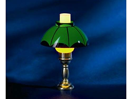 Melody Jane Dollhouse Table Lamp Green Oil Lamp Shade for sale  Delivered anywhere in USA