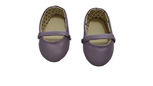 - Baby Doll Pretend Play Doll Ballet Flats With Polka Dots Lavender