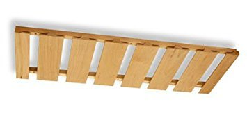 Omega National S9620OUF1 12'' x 30'' Stemware Holder with 7 Rows - Red Oak by Omega National