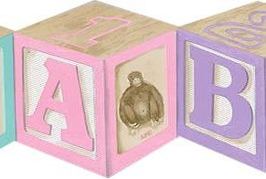 Alphabet Wood Blocks Wallpaper Border
