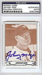 Johnny Mize Signed 1942 Play Ball Reprint Trading Card #31 New York Giants - PSA/DNA Authentication - Autographed MLB Baseball Cards from Sports Collectibles Online