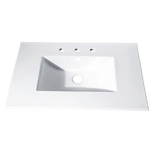 37 in. Vitreous China Top with Integrated Bowl (8 Holes) by Avanity
