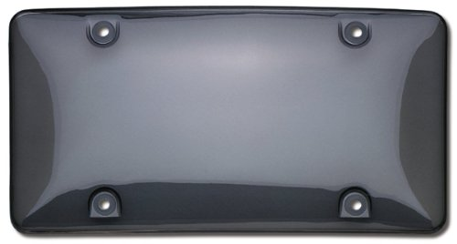 Cruiser Accessories 72200 Bubble Shield License Plate Shield/Cover, Smoke