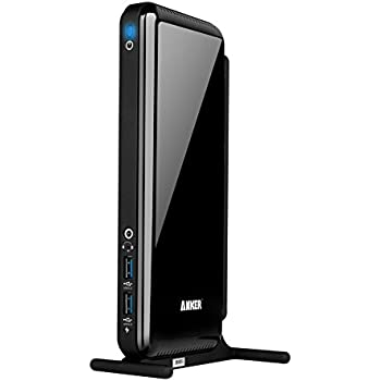 Anker AK-68ANDOCKS-BEA 6 USB Ports Dual Display Universal Docking Station with DVI/HDMI, 2048 x 1152, 38W Adapter