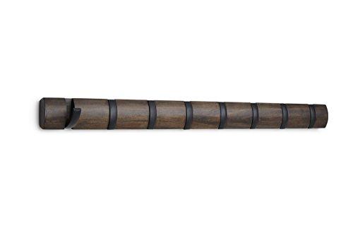Umbra Flip 8-Hook, Black/Walnut
