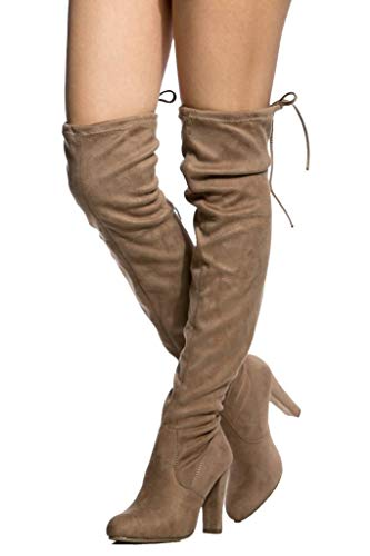 (LUSTHAVE Diva Thigh High Over The Knee Boots Taupe SU 8)