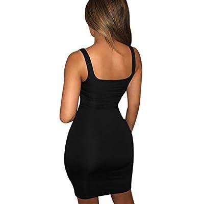 BORIFLORS Women's Casual Basic Tank Top Sexy Sleeveless Bodycon Mini Club Dress at Women's Clothing store