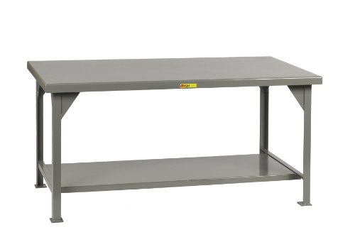 Edge Workbench Shop Top (Little Giant WW-3672 Welded Steel Workbench, 1 Lower Shelf, 10,000 lb. Load Capacity, 34