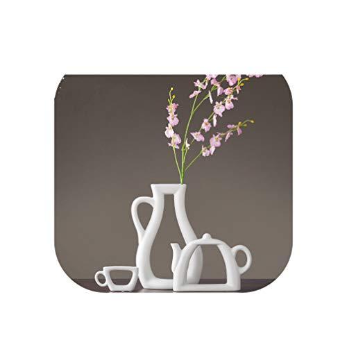 (3pcs/Set Nordic Simple Modern vase Decoration Living Room Study Decoration Cabinet Ceramic vase Flower teapot vase,Pink)
