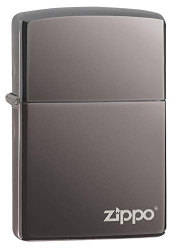 Black Ice Logo Zippo Outdoor Indoor Windproof Lighter Free Custom Personalized Engraved Message Permanent Lifetime Engraving on Backside