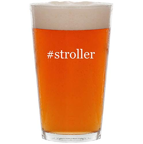 #stroller - 16oz Hashtag Pint Beer Glass