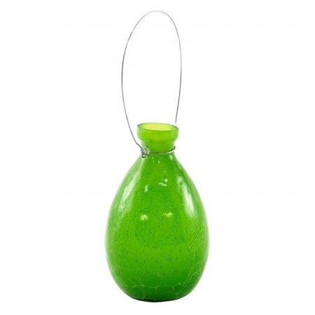 Achla Designs SV-01FG Hanging Glass Flower Planter/Rooting Vase Teardrop Shaped, Fern Green