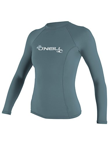 (O'Neill women's basic skins long sleeve rashguard 2XL Dusty blue)