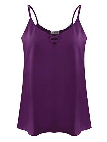 7th Element Womens Plus Size Cami V-Neck Basic Camisole Tank Top - Size Camisole Plus