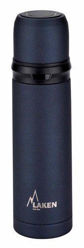 Laken Vacuum Insulated Stainless Steel Thermo Flask 25oz 0.75 Liter Black (5 Gallon Canteen)
