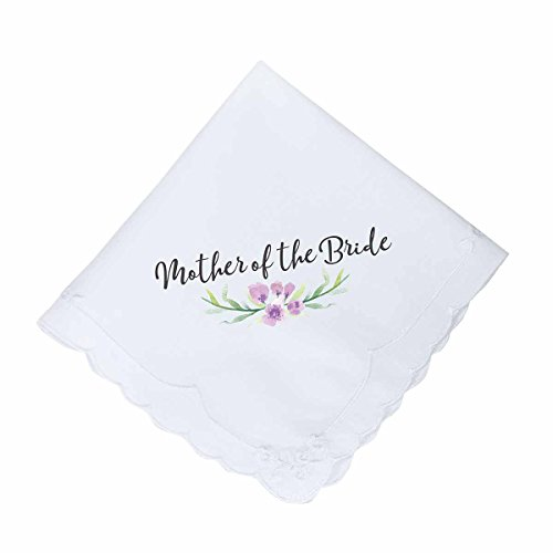 Lillian Rose AZ270003 MB Purple Mother of The Bride Hankie, White