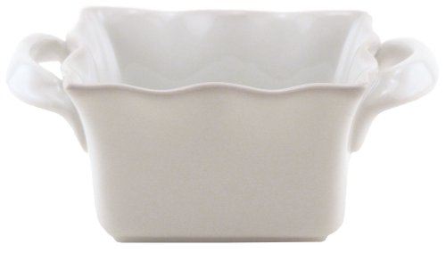 BIA Cordon Bleu Wavy Collection 52-Ounce Square Baker with Handles, White