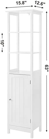 home, kitchen, furniture, accent furniture,  storage cabinets 7 picture VASAGLE Floor Cabinet, Multifunctional Bathroom Storage Cabinet with in USA