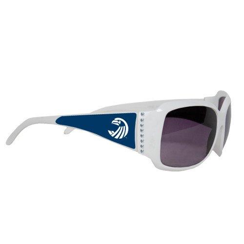 Salve Regina Ladies White Rhinestone Sunglasses 'Athletics - Regina Sunglasses