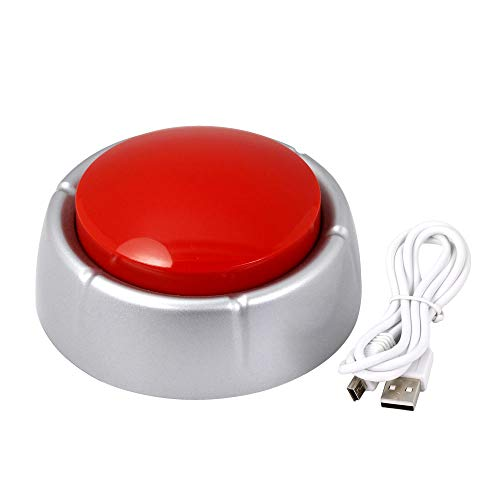 (Cover MP3 Sound Button, Talking Button Download Thru USB, 8MB Recordable Easy Button)