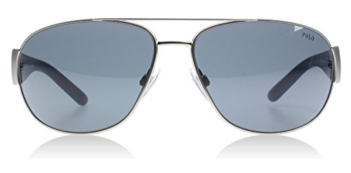 Polo Ralph Lauren Men's 0PH3052 904687 Aviator Sunglasses,Matte Silver Frame/Grey Lens,One - Ralph Shades Lauren