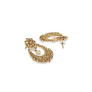 DesignsSparkling Gold PlatedChandbali Earring for Women
