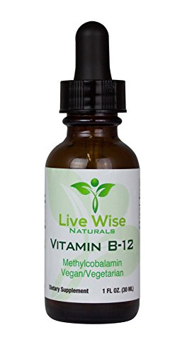 Vitamin B12 Sublingual Liquid Drops, Methylcobalamin, Vegan, 3000mcg = 60 servings 3000/6000mcg