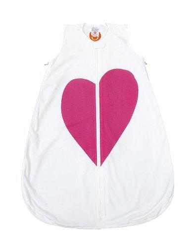 Gunamuna Cotton Dreams Gunapod Wearable Baby Sleepsack, Heart, Small