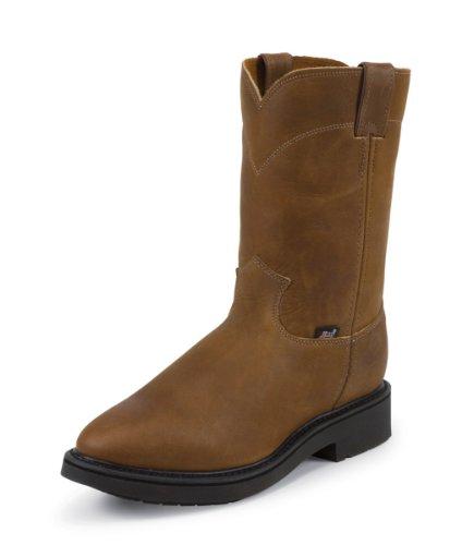 [Justin Original Work Boots Men's Double Comfort 4760 Work Boot,Aged Bark,8 D US] (Aged Bark Boot)