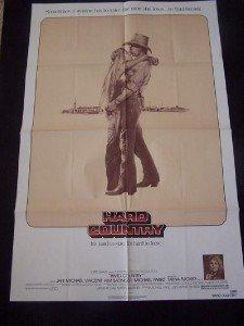 (HARD COUNTRY - 27x41 Original Movie Poster One Sheet 1981 Folded Kim Basinger )