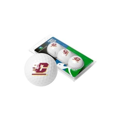 NCAA Central Michigan Chippewas - 3 Golf Ball Sleeve (Gear Central Michigan)