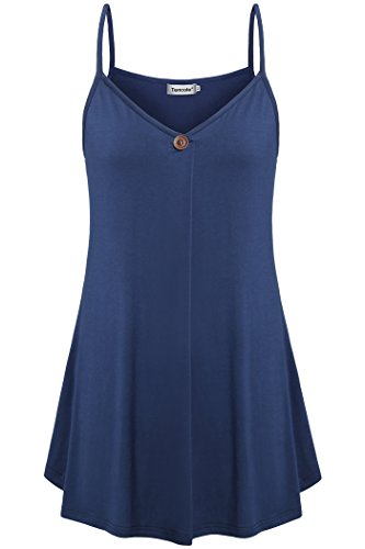 Active Tank Tops for Women,Tencole Dressy Sleeveless Blouses Comfy Cami Blue L