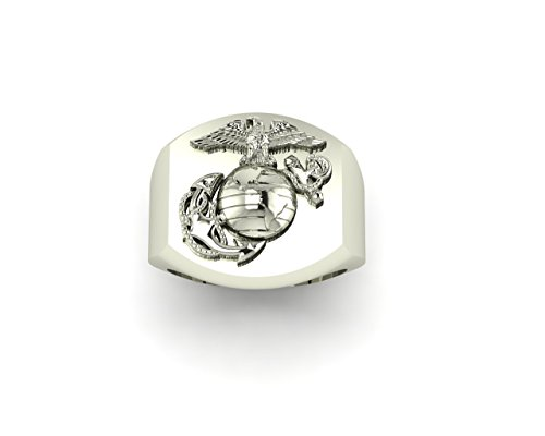 Signet Ring with Eagle Globe and Anchor MR1 by Marine Corps Rings