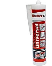 Fischer Silicona Universal Blanca (Cartucho 280 ml), 098647