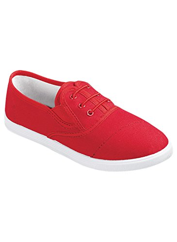 Carol Wright Gifts No-Tie Sneaker, Red, Size 8-1/2 (Wide)