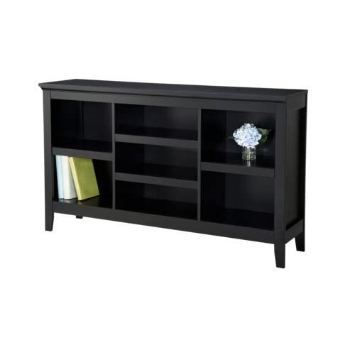 delicate Threshold Carson Horizontal Bookcase in Ebony