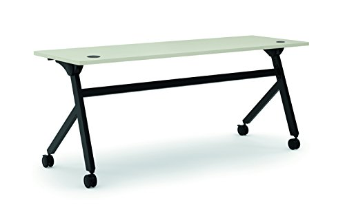 Table Training Base - HON Assemble Flip Base Multi-Purpose Table, 72-Inch, Light Gray/Black (HBMP7224P)
