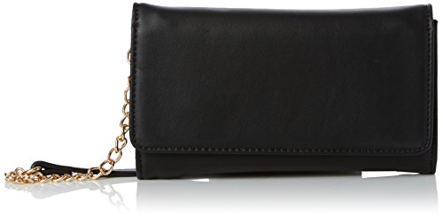 New Look Super Sleek Purse - Pochette da giorno Donna, Black, 3.5x13x22 cm (W x H L)