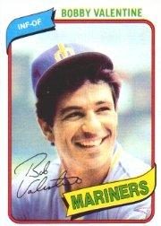 - 1980 Topps Baseball Card #56 Bobby Valentine Mint