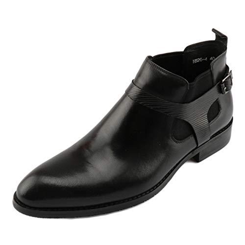 A di Uomo Leather con Stivaletti per Men Boots Black Stivali Classic Alti Punta Aiutare Stivali Gli Wedding Pelle Chelsea da Desert Brogue B6vwq7x7Wn