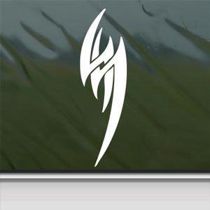 Jin Kazama Tattoo Tekken Ps3 White Sticker Decal Car Window Wall