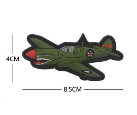 WW2 Spitfire Aircraft Military PVC Patch Rubber Badges Patch Tactical Stickers for Clothes Back with Hook