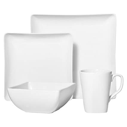 Threshold 16-Pieces Dinnerware Set White  sc 1 st  Amazon.com & Amazon.com: Threshold 16-Pieces Dinnerware Set White: Kitchen u0026 Dining