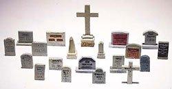 Woodland Scenics HO Scale Scenic Details 20 Tombstones ()