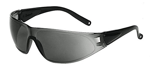 Galeton 9200131 Shield Anti-Scratch Lens Safety Glasses with Adjustable Temples One Size Smoke Gray