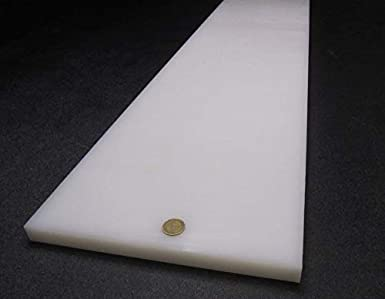 "Thick x 12/"" x 36/"" Tivar UHMW PE White Sheet .500/"" 1//2/"""